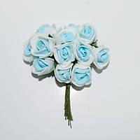 Роза латекс бело-голубая