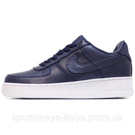 Кроссовки мужские синие Nike Air Force 1 Low Deep Blue (реплика), фото 2