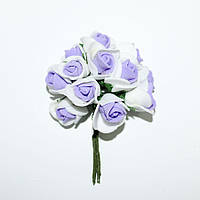 Роза латекс бело-сиреневая