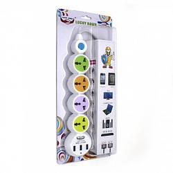 Сетевой удлинитель ZBS EU 4 Power Socket LH-305 3USB White (LH-305)
