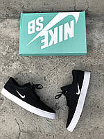 fccdab34 Кроссовки мужские черные Nike SB Clutch sketeboarding Black White (реплика)