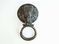 Ручка дверная Слон  кольцо черный