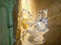 Статуэтка из стекла Медвежата хрустальные 9см