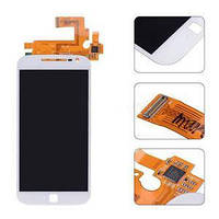 Дисплей (экран) для Motorola XT1641 Moto G4 Plus/XT1642/XT1643/XT1644 + тачскрин, белый