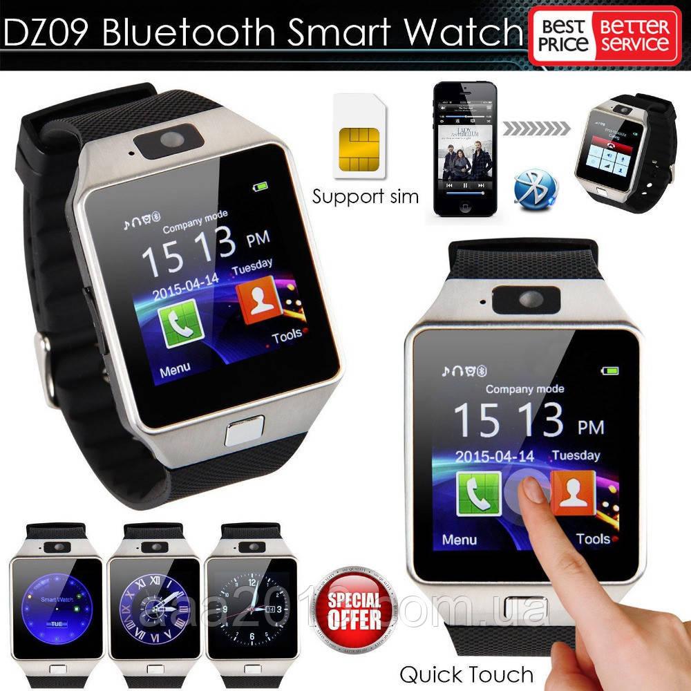 УЦЕНКА Умные Cмарт Часы Телефон DZ09 c камерой, с SIM-картой с microSD-картой