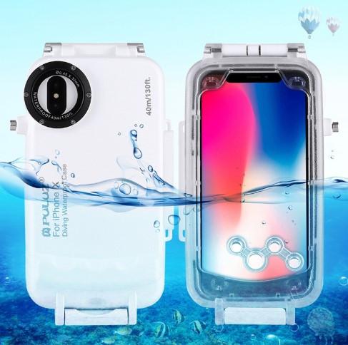 Водонепроницаемый противоударный защитный чехол для защиты от влаги на IPhone X (IP68 ) погружение до 40м.