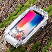 Водонепроницаемый противоударный защитный чехол для защиты от влаги на IPhone X (IP68 ) погружение до 40м., фото 2