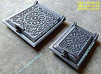 Дверцы чугунные печные (комплект №12) грубу, барбекю, мангал