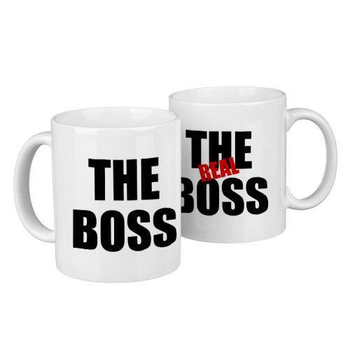 """Парные кружки """"The real boss"""""""