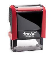 Текстовий штамп Trodat 38x14 мм, червоний, пластиковий (4911 Р4Т/3/ укр червона)