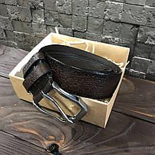 Ремень I&M Craft из натуральной кожи коричневый (R100101)
