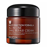 Крем для лица и шеи с улиткой MIZON All In One Snail Repair Cream 75мл, фото 2