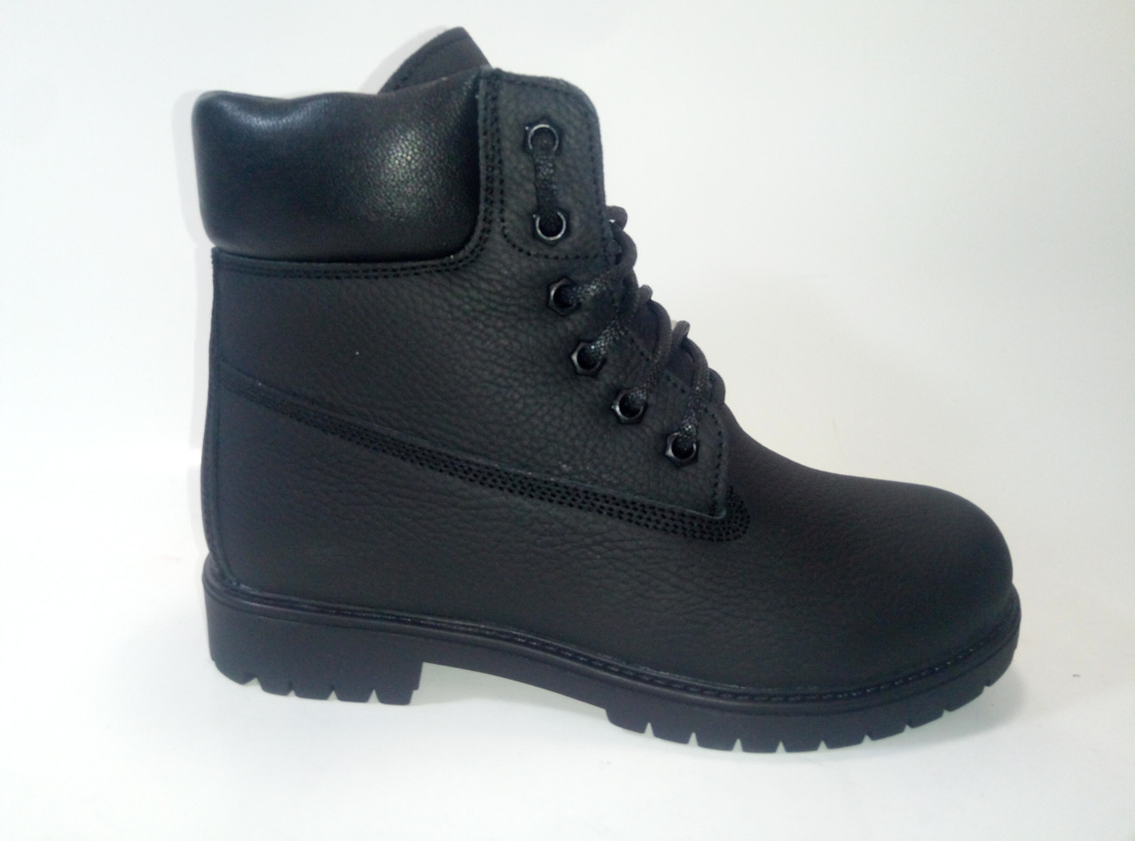 Кожаные женские зимние ботинки на шнурках ТМ Este, фото 1