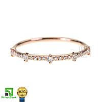 Золотое кольцо-дорожка с муассанитами 585 пробы