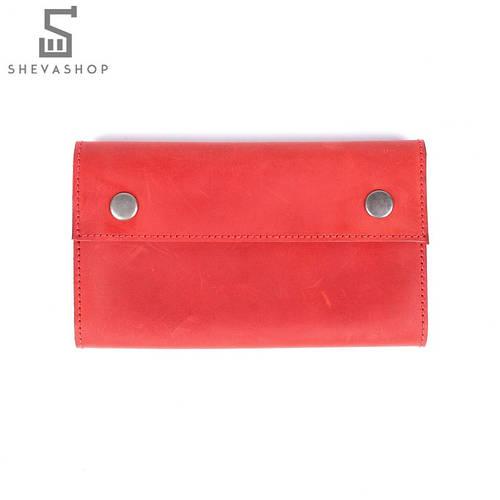 e2aca7983f07 Кожаное портмоне Knockwood Leicester красное