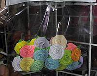 Декоративная роза на самоклеющейся основе, 25шт/уп