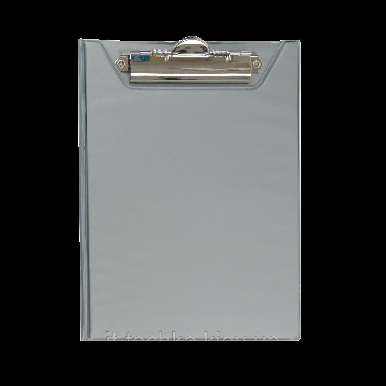 Клипборд-папка buromax  bm.3417-09 серый А5 pvc