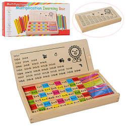 """Деревянная игрушка """"Набор первоклассника"""" (счетные палочки, таблица умножения), MD1267"""