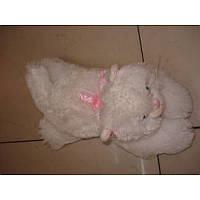 Мягкая игрушка озвученая Кот белый пушистый №3