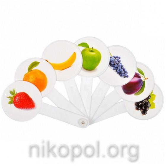 """Учебный веер - """"цвета - фрукты"""""""