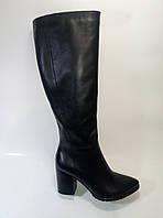 Женские кожаные демисезонные сапоги на каблуке ТМ Камея, фото 1