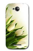 Чехол для Lenovo A706 (белые тюльпаны)