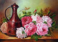 Алмазная техника Садовые розы DM-237 (30 х 40 см) ТМ Алмазная мозаика
