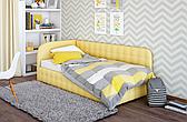 Детская мягкая кровать  Флора Городок, обивка а выбор
