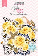 """Набор высечек """"Yellow Rose"""" 57 шт."""