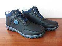 Ботинки мужские зимние черные теплые (код 9393), фото 1