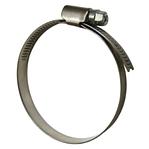 Хомут затяжной червячный стальной оцинкованный DIN 3017-1