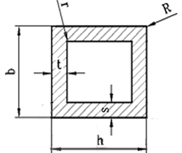 Труба квадратная алюминий 15х15х1 анод