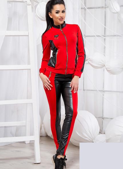 7c367dbfa4e Купить Прогулочный красный с черный костюм двойка 819264 Украина ...