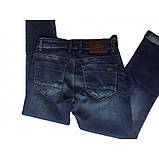 Полубаталы джинсы бойфренды Jass 297 темно-синие, фото 3