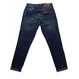 Полубаталы джинсы бойфренды Jass 297 темно-синие, фото 2