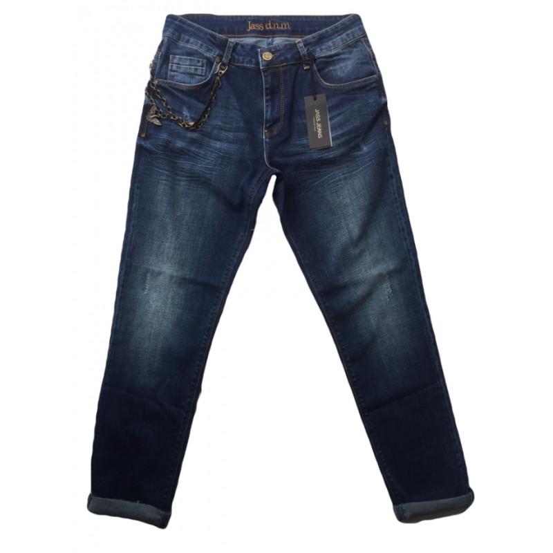 Полубаталы джинсы бойфренды Jass 297 темно-синие