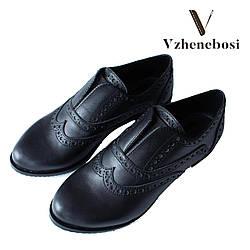 Классические туфли ручной работы. Кожа