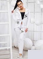 Спортивный белый костюм штаны с кардиганом 819267