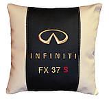 Авто Подушка подарок в машину с логотипом Infiniti инфинити, фото 10