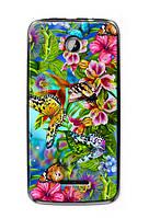 Чехол для Lenovo A390 (тропические бабочки)