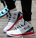 """Кросівки хайтопы """"30"""" біло-червоні, фото 2"""