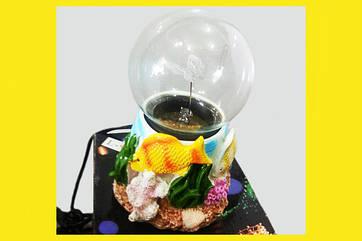 Плазменный Шар Рыбки в Кораллах 9 см