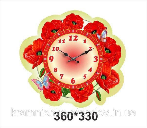 """Оригінальні настінні годинники """"Маки"""""""
