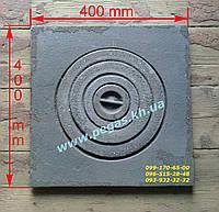 Плита чугунная (400х400 мм) грубу, мангал, барбекю, фото 1
