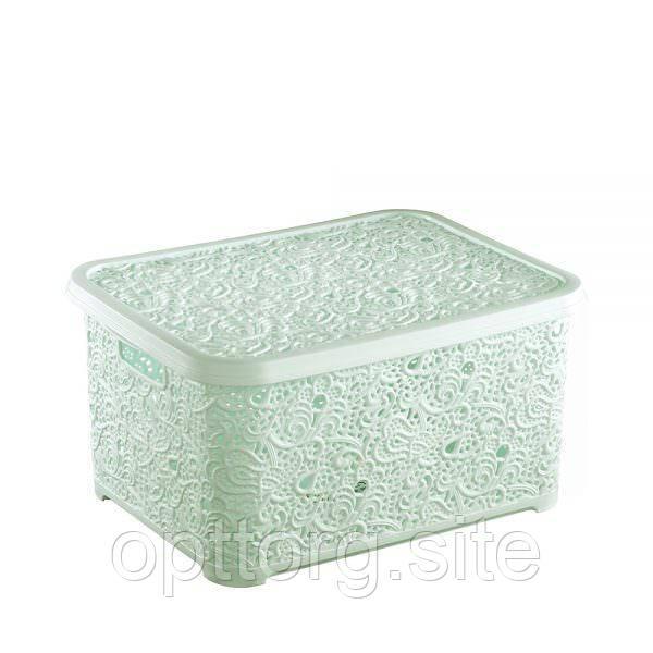 Корзина Ажур 6 л для мелочей с крышкой №1 Elif Plastik 374