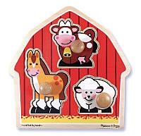 """Формовой пазл  """"Животные с фермы""""ТМ Melissa&Doug"""