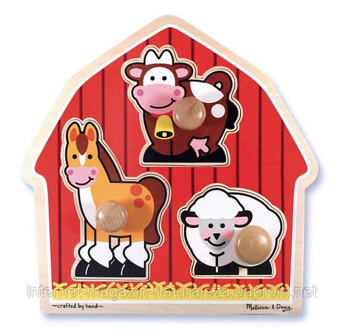 Формовой пазл Животные с фермы ТМ Melissa&Doug, фото 2