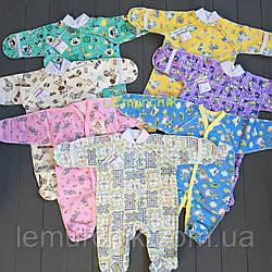 Человечек для новорожденного (хлопок 100%) 56р, цвет на выбор