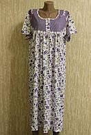 Женская ночная рубашка с рукавом размер 48-50 (XL)!!! 100% хлопок Турция
