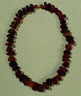 Бусы натуральный необработанный лечебный янтарь 10-20 мм вес 52г
